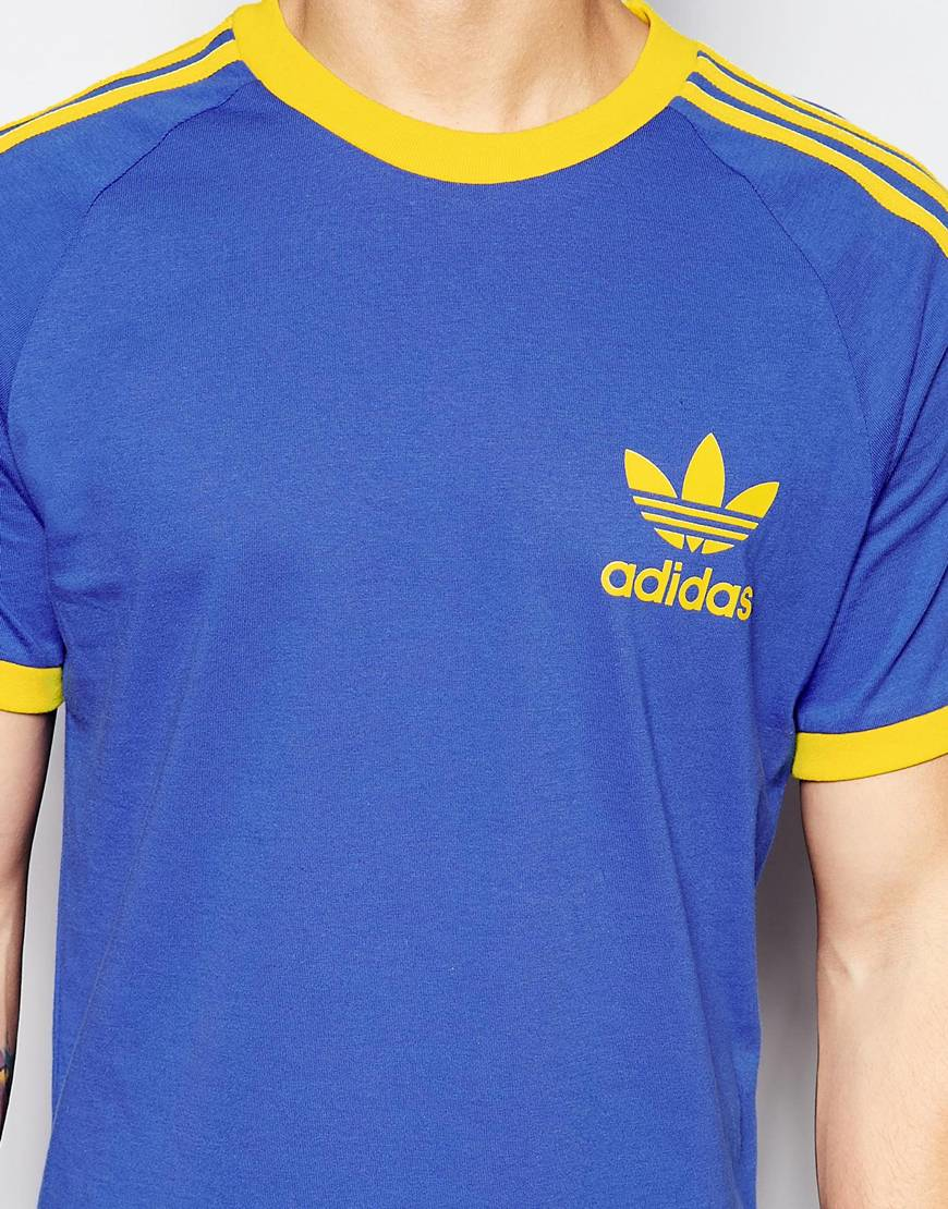 adidas originals california t shirt ab7599 in blue for men lyst. Black Bedroom Furniture Sets. Home Design Ideas