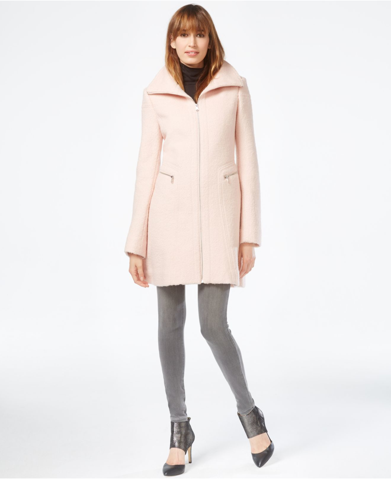 Jessica Simpson Pink Wool Coat