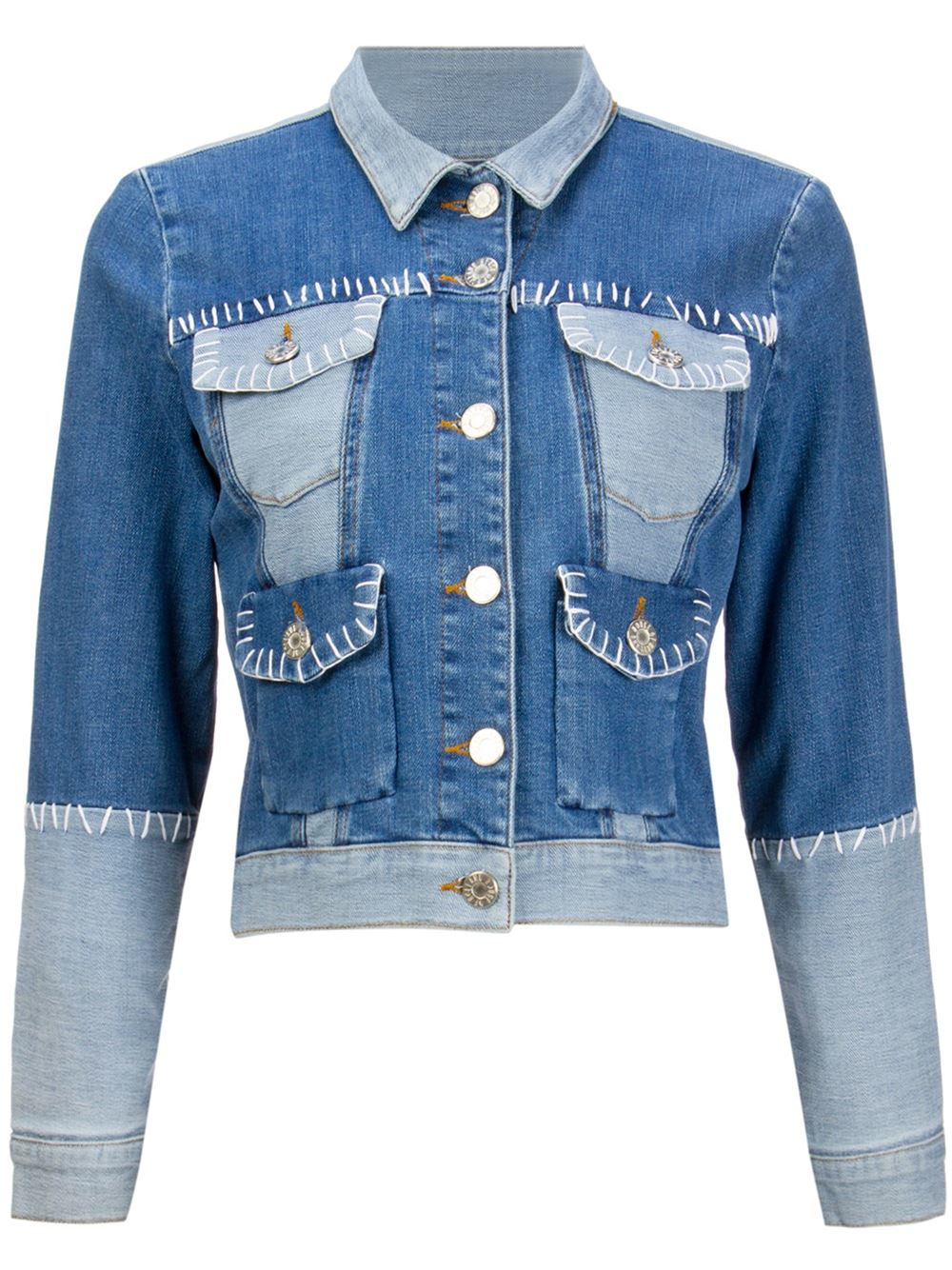 House Of Holland Exposed Seam Denim Jacket In Blue Lyst