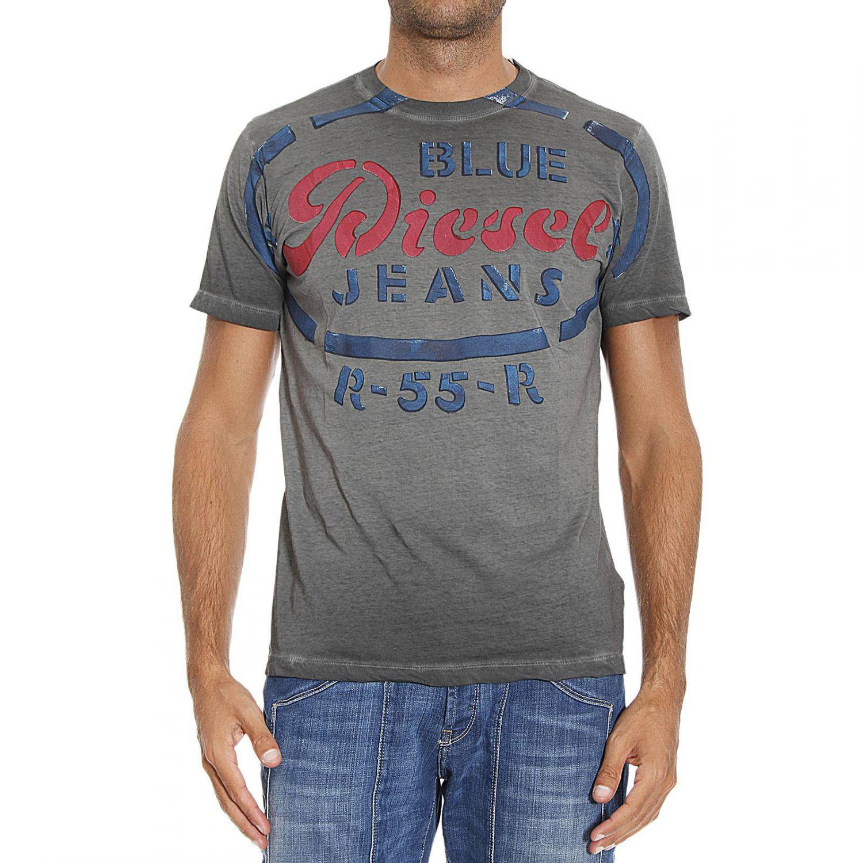 Lyst - Diesel T-shirt in Gray for Men