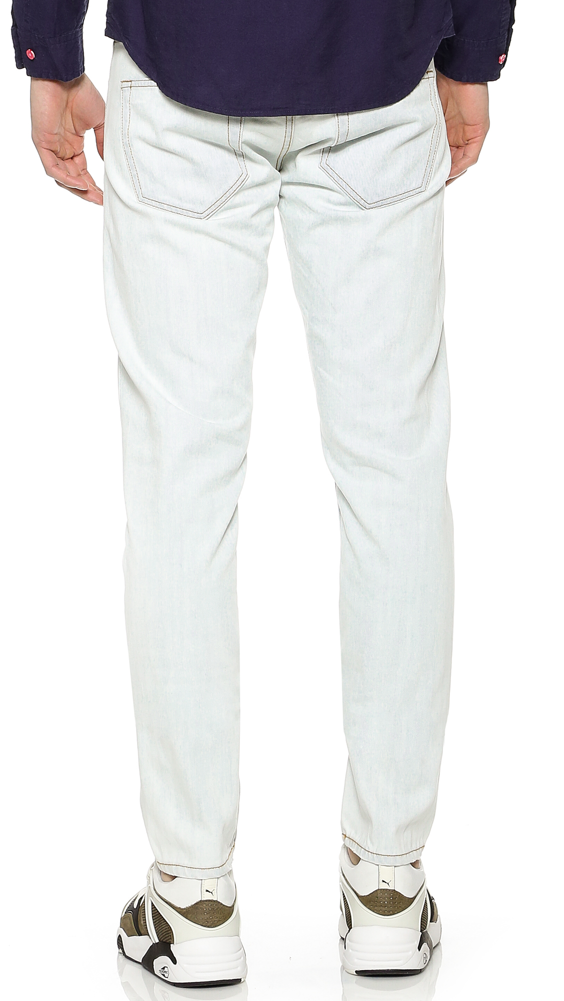 Marc By Marc Jacobs Denim Low Rise Tapered Jeans in Blue for Men
