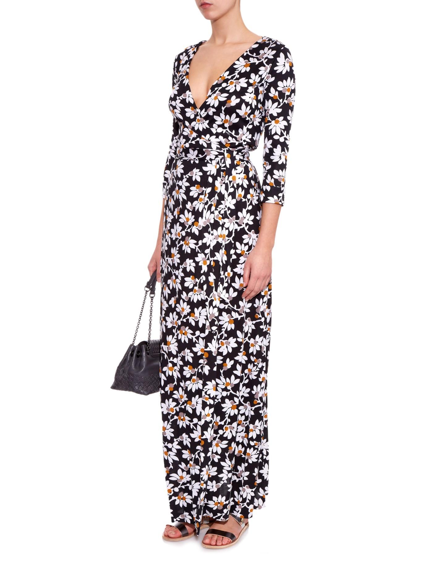 Diane Von Furstenberg New Julian Two Maxi Dress In Black