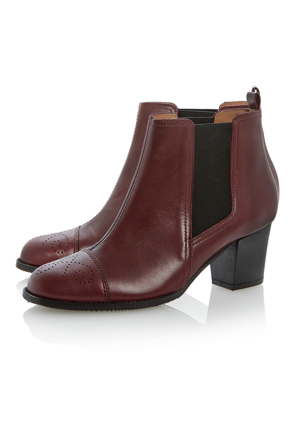 Topshop Sam Black Heeled Boots By Dune In Red - Lyst-3296