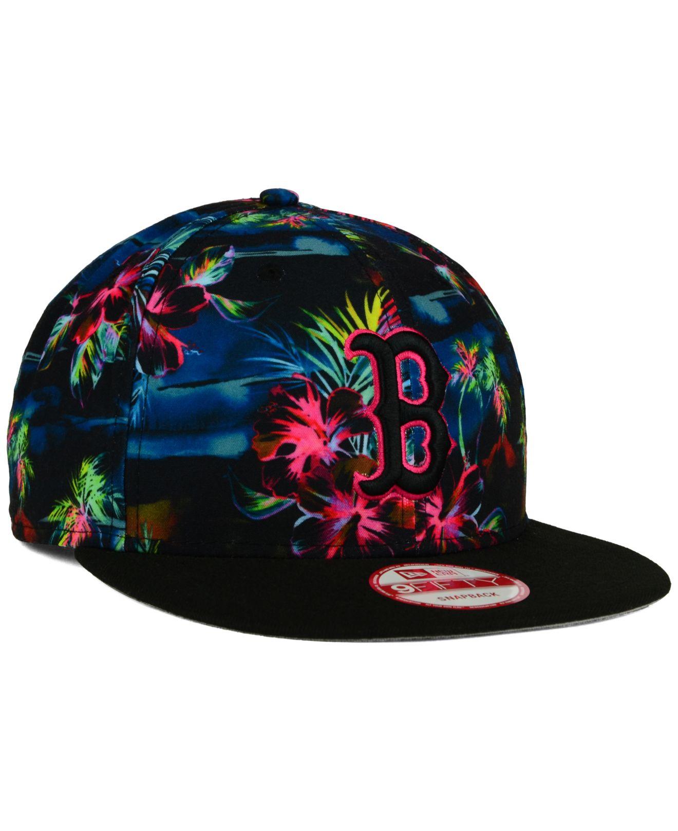 Lyst - KTZ Boston Red Sox Dark Tropic 9fifty Snapback Cap in Blue ... 7f01404759c