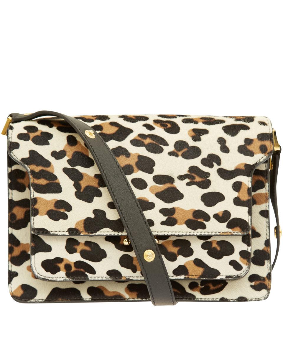 Lyst - Marni Leopard Print Ponyskin Bag in Brown d853458c9bcc5