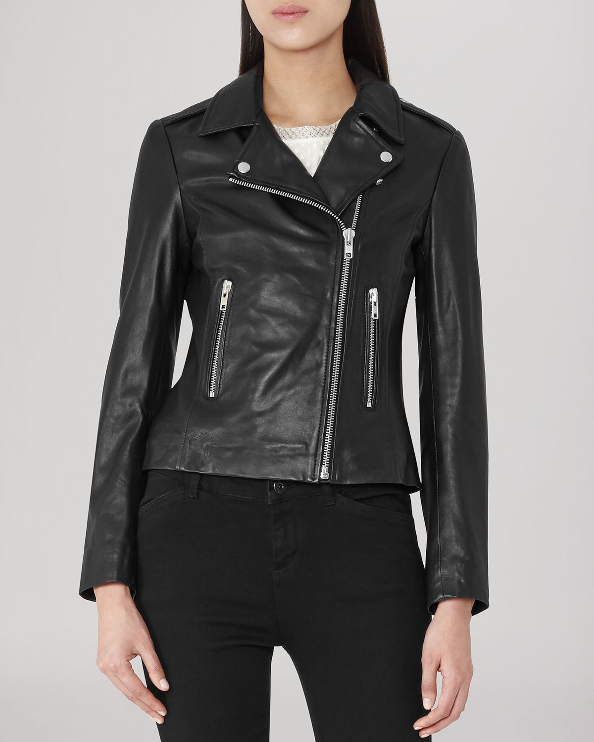 Reiss leather jackets
