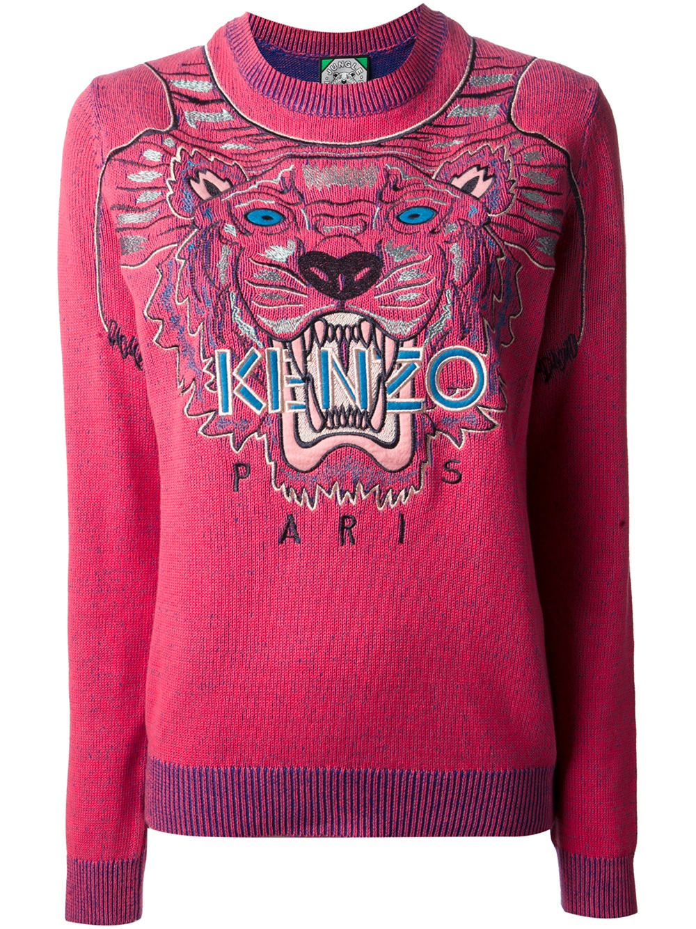 kenzo tiger sweater in purple lyst. Black Bedroom Furniture Sets. Home Design Ideas
