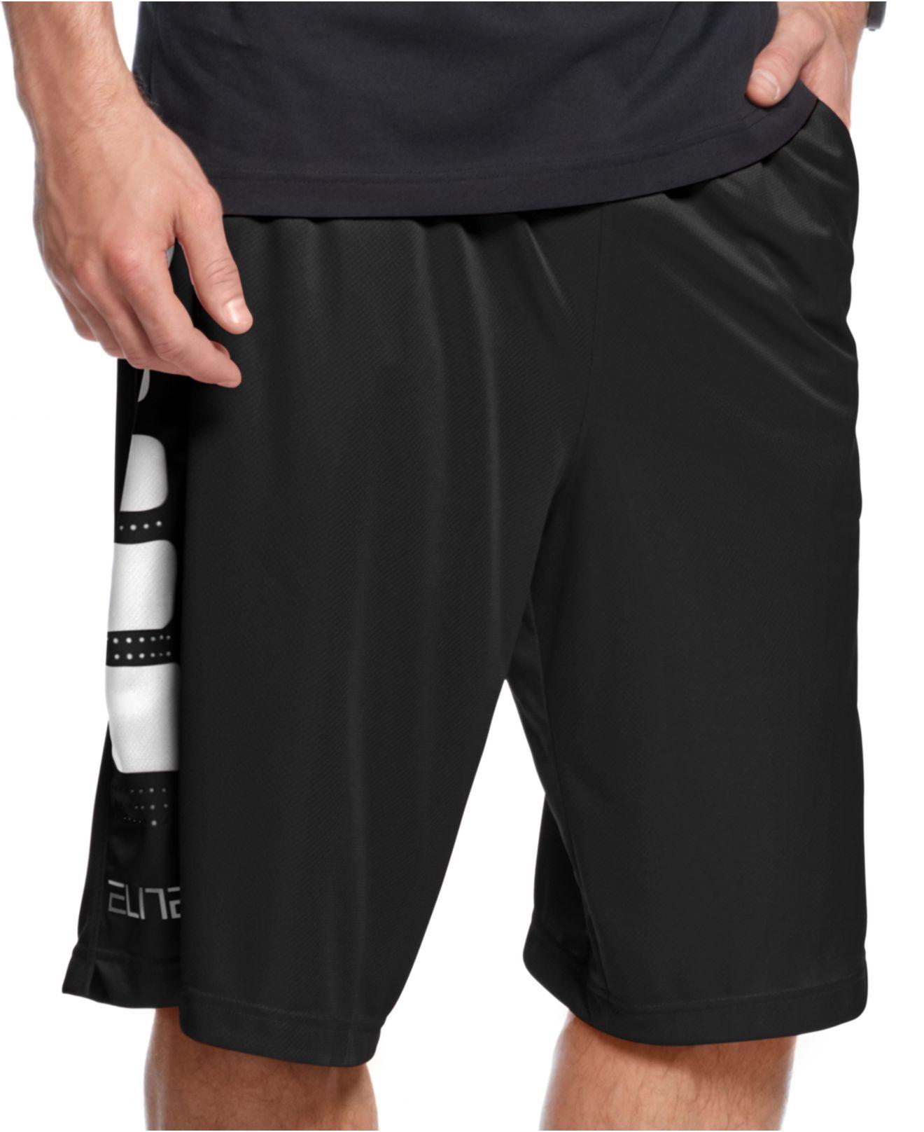 Lyst Nike Elite Stripe Basketball Shorts In Black For Men