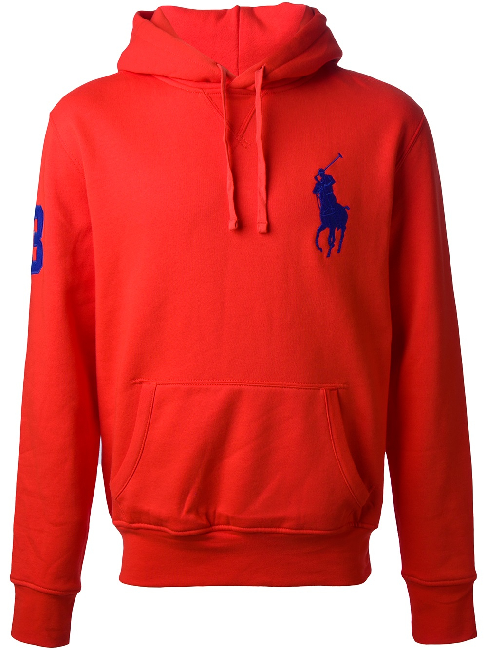 Lyst - Polo Ralph Lauren Logo Hoodie in Blue for Men