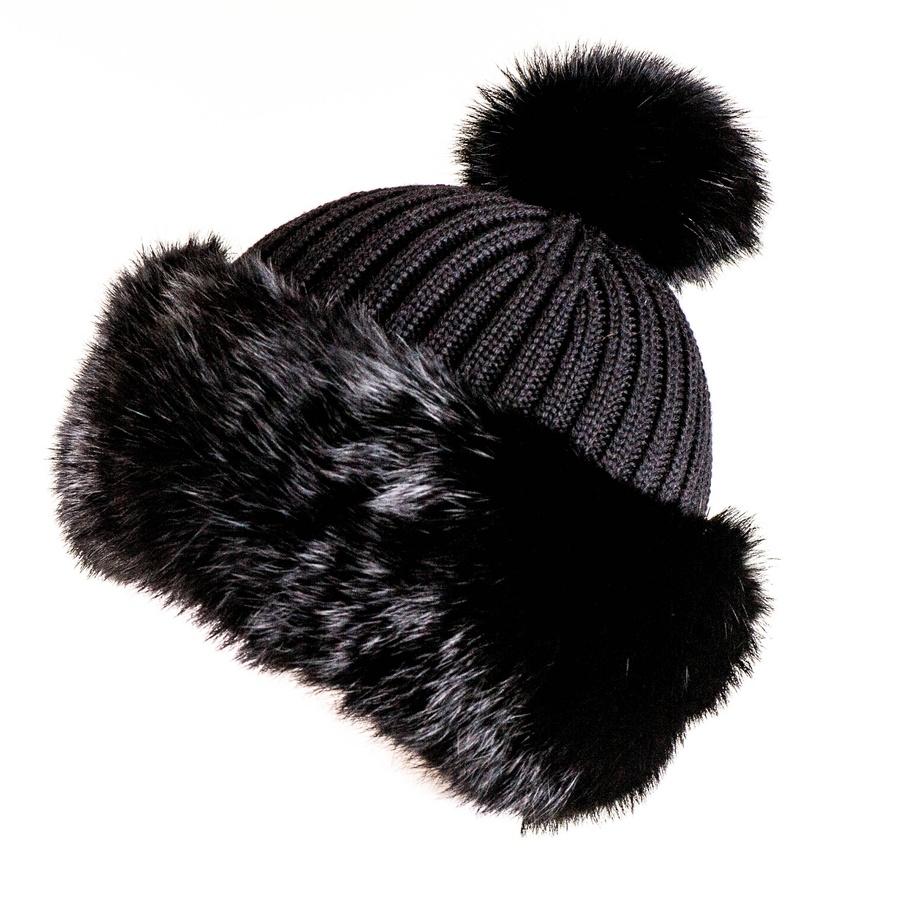 f23e2ffbf69 Lyst - Black.co.uk Black Rabbit Fur Bobble Hat Description Delivery ...