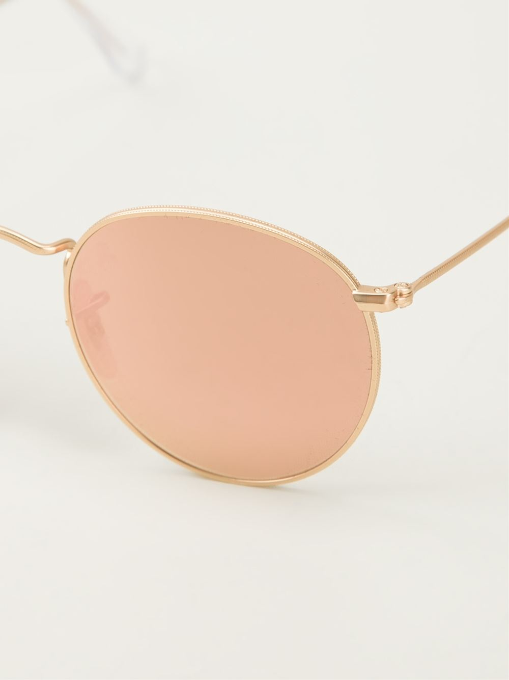 Ray Ban Round Frame Sunglasses : Ray-ban Round Frame Sunglasses in Pink for Men (metallic ...