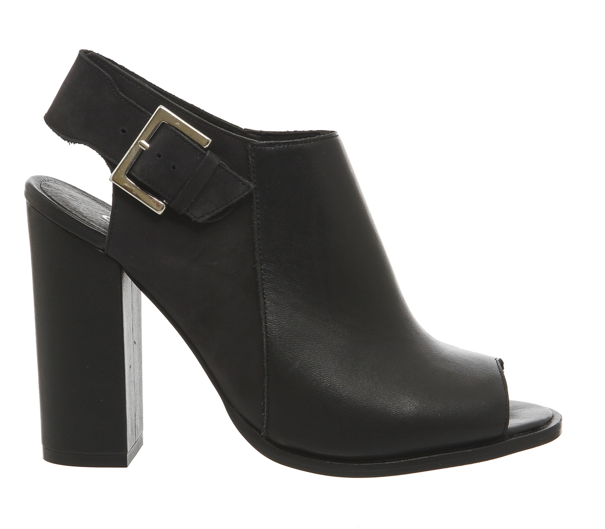 office total peep toe shoe boots in black lyst