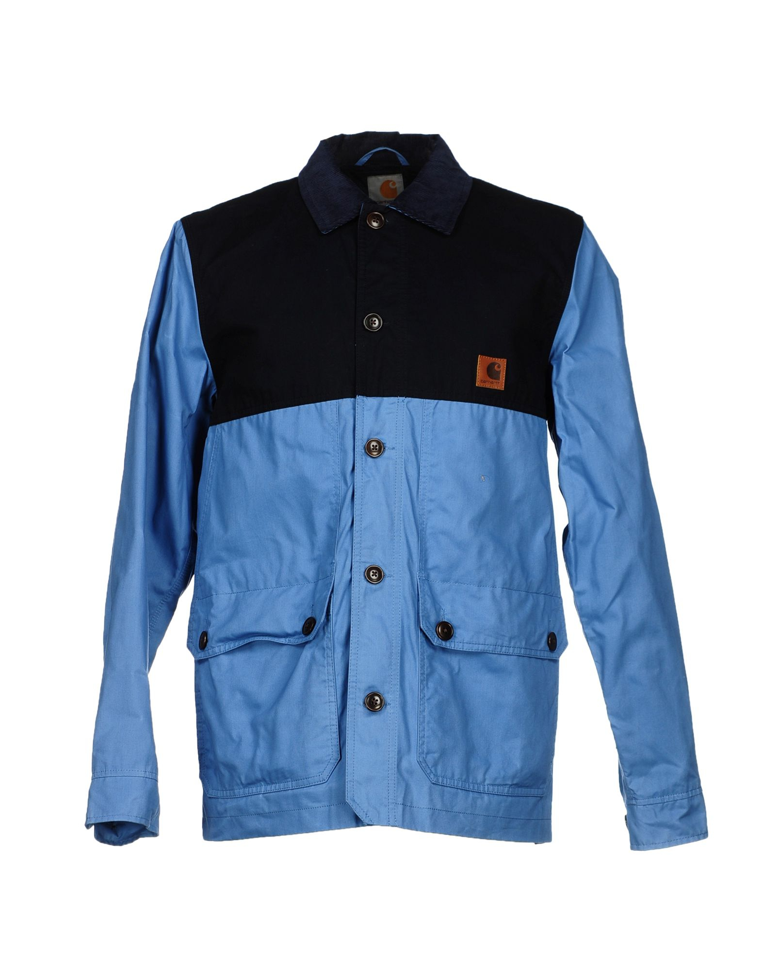 carhartt jacket in blue for lyst
