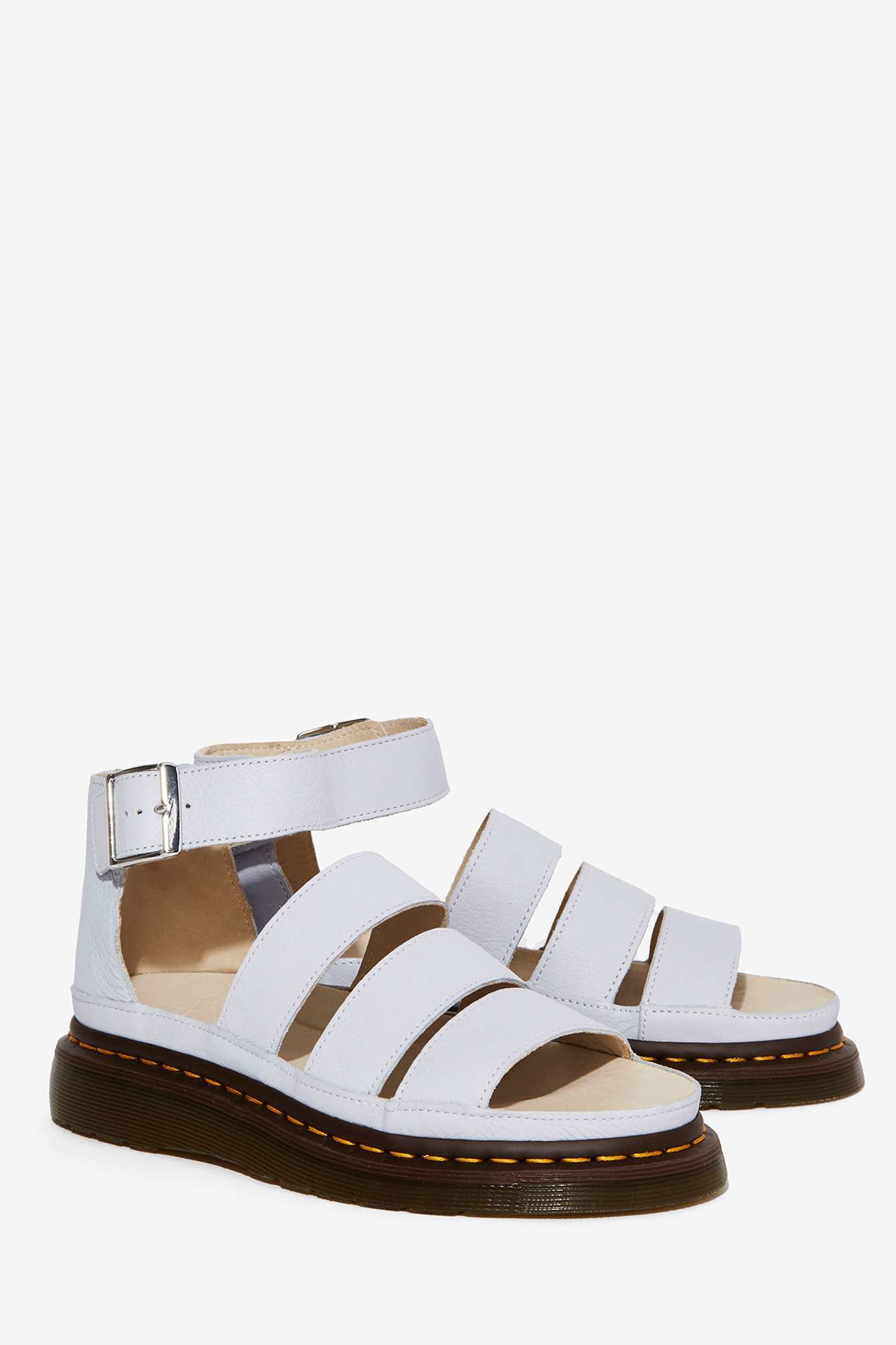 Dr Martens Clarissa Leather Sandal In White Lyst