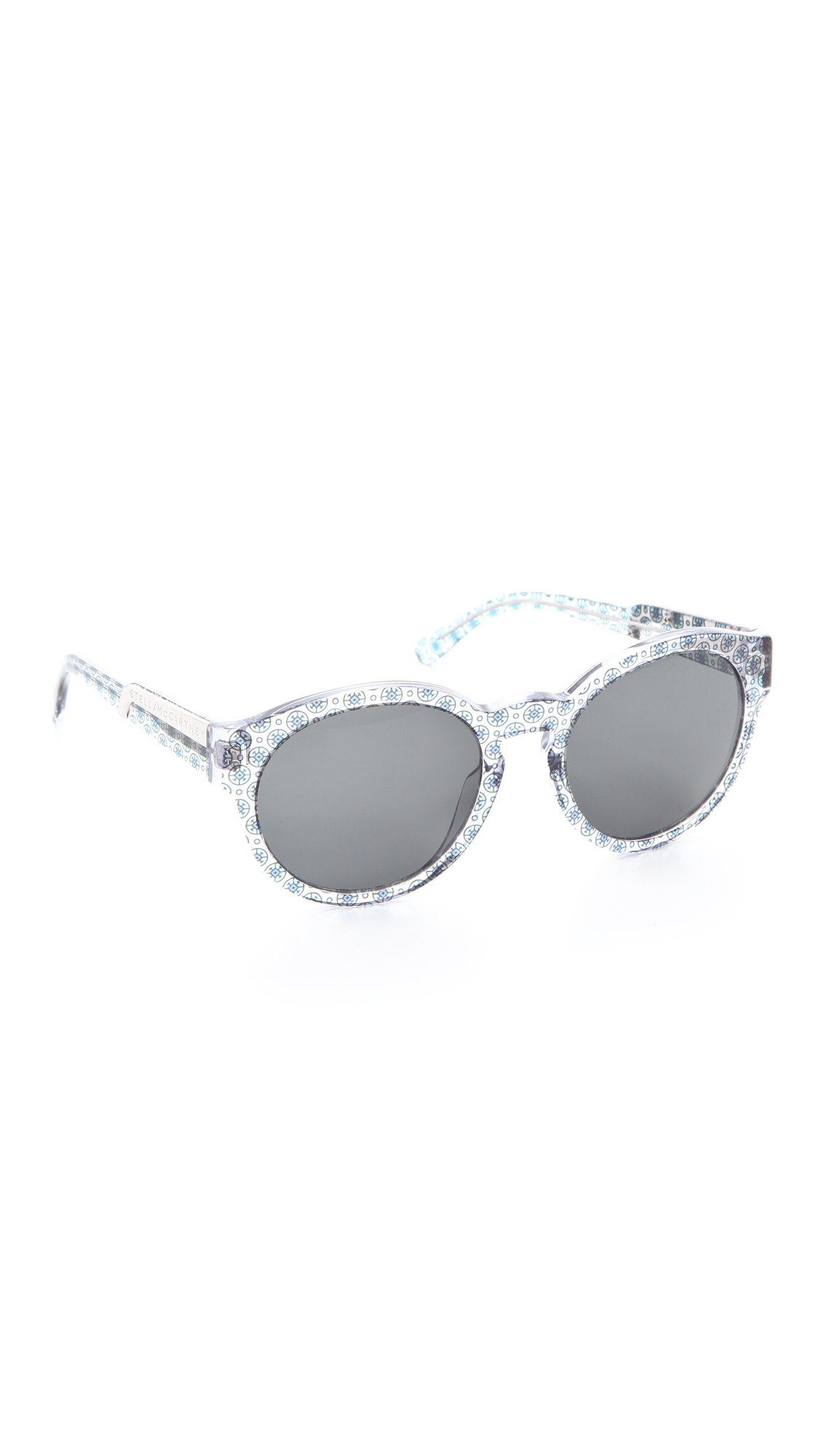 Stella McCartney Round Sunglasses Oriental Circle Red in Grey