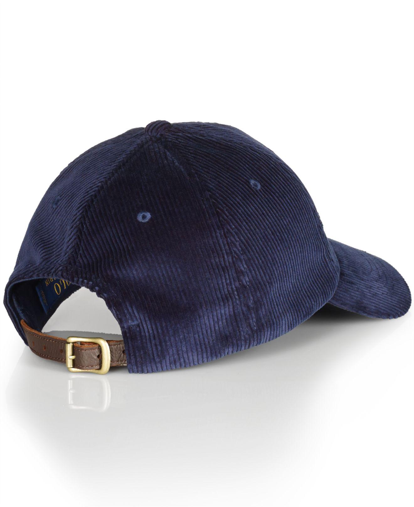 Lyst - Polo Ralph Lauren Corduroy Sports Cap in Blue for Men 83a63151b50