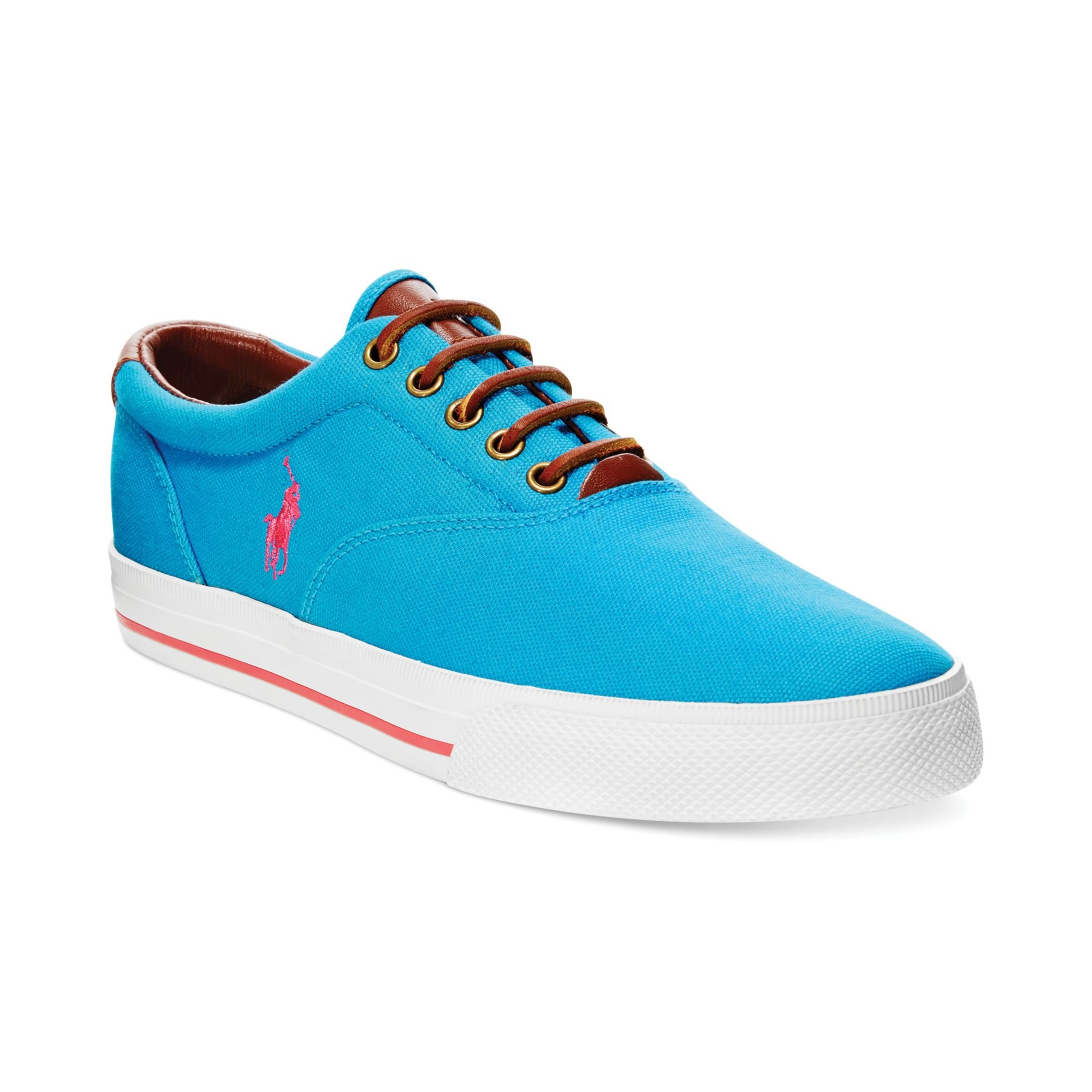 Blue And Pink Polo Shoes