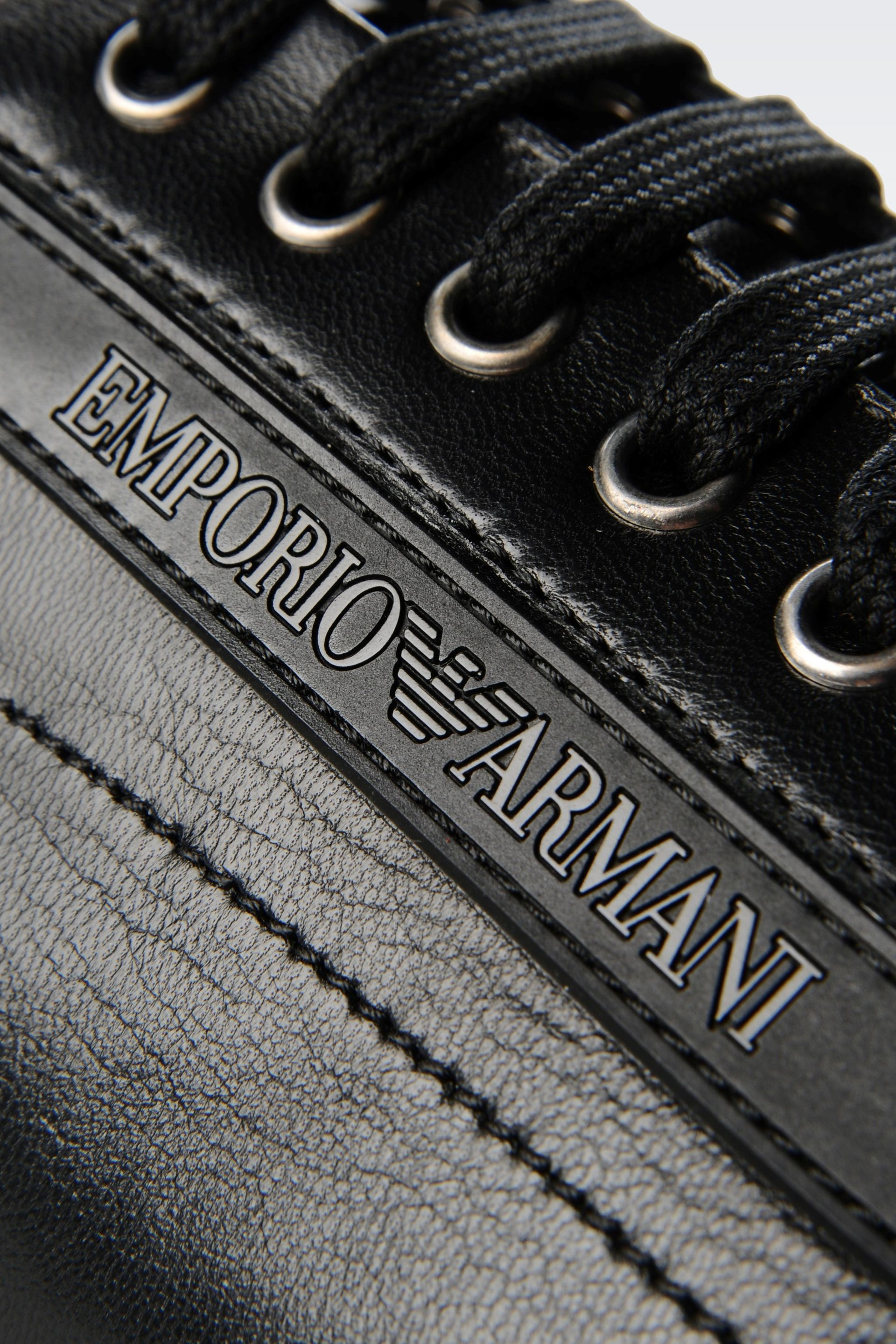 eeaab11f8 Emporio Armani Sneaker in Napa Leather with Logo in Black for Men - Lyst