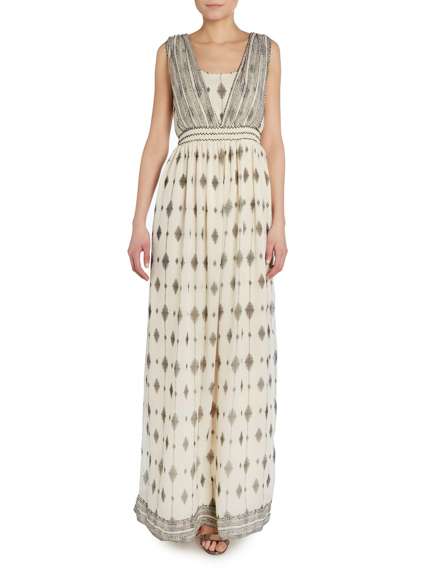Hoss intropia guipure lace maxi dress