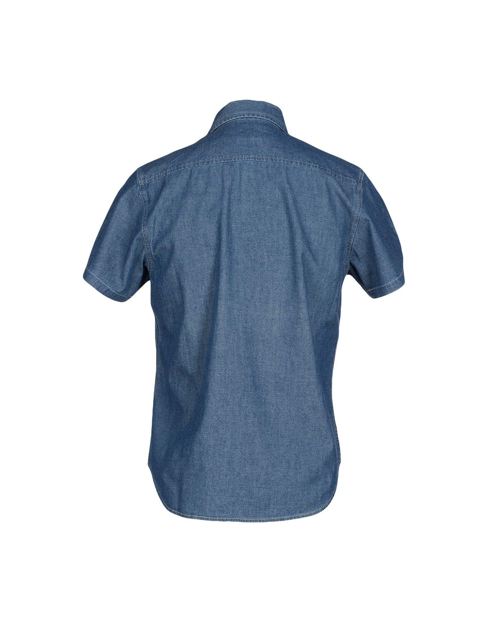 calvin klein jeans denim shirt in blue for men lyst. Black Bedroom Furniture Sets. Home Design Ideas