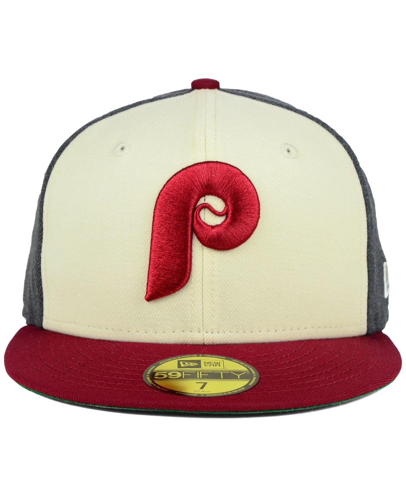 5c397ebe KTZ Philadelphia Phillies Classic Coop 59fifty Cap in Red for Men - Lyst