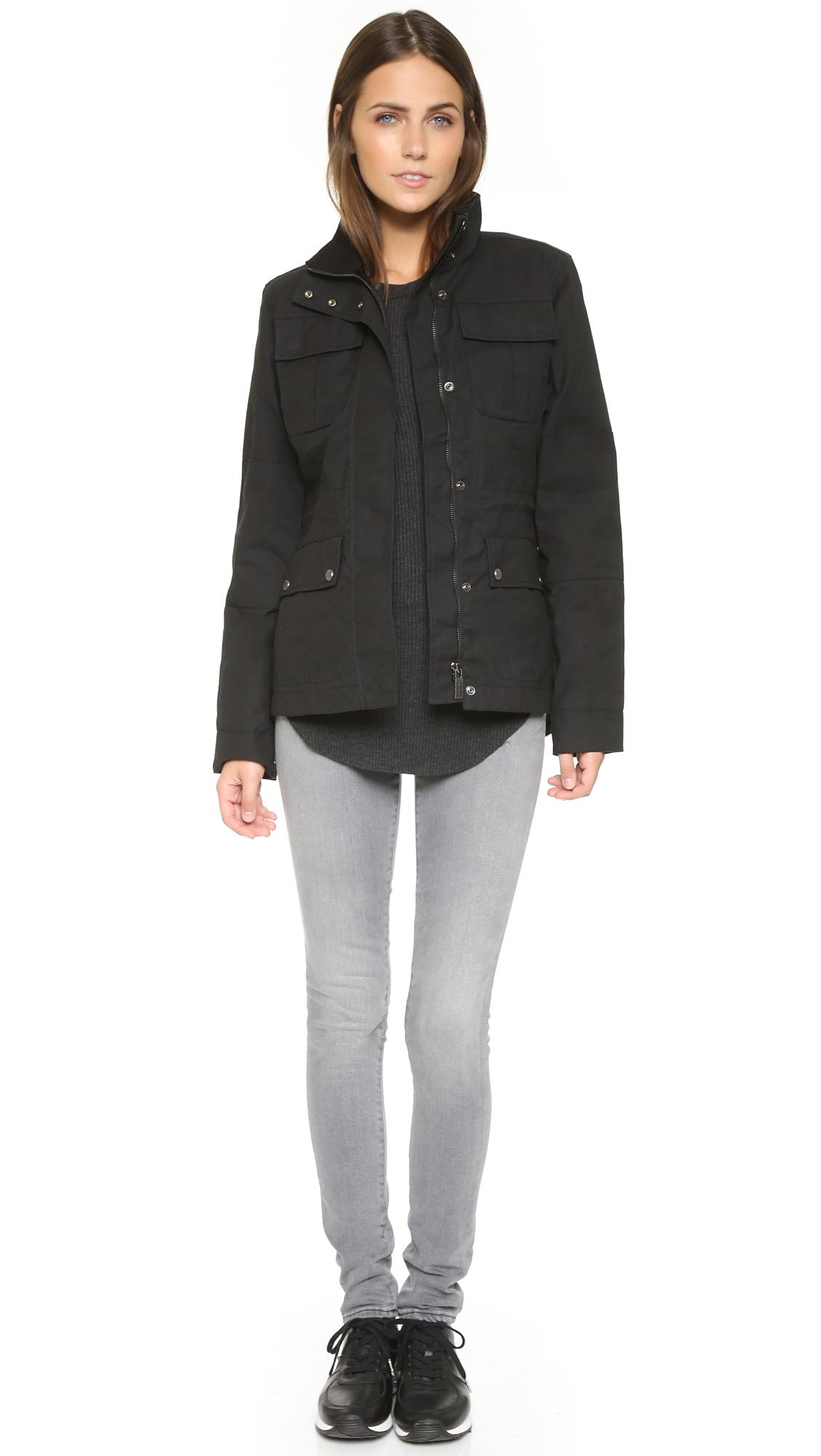 Hunter Womens Original Winter Utility Jacket Black Lyst