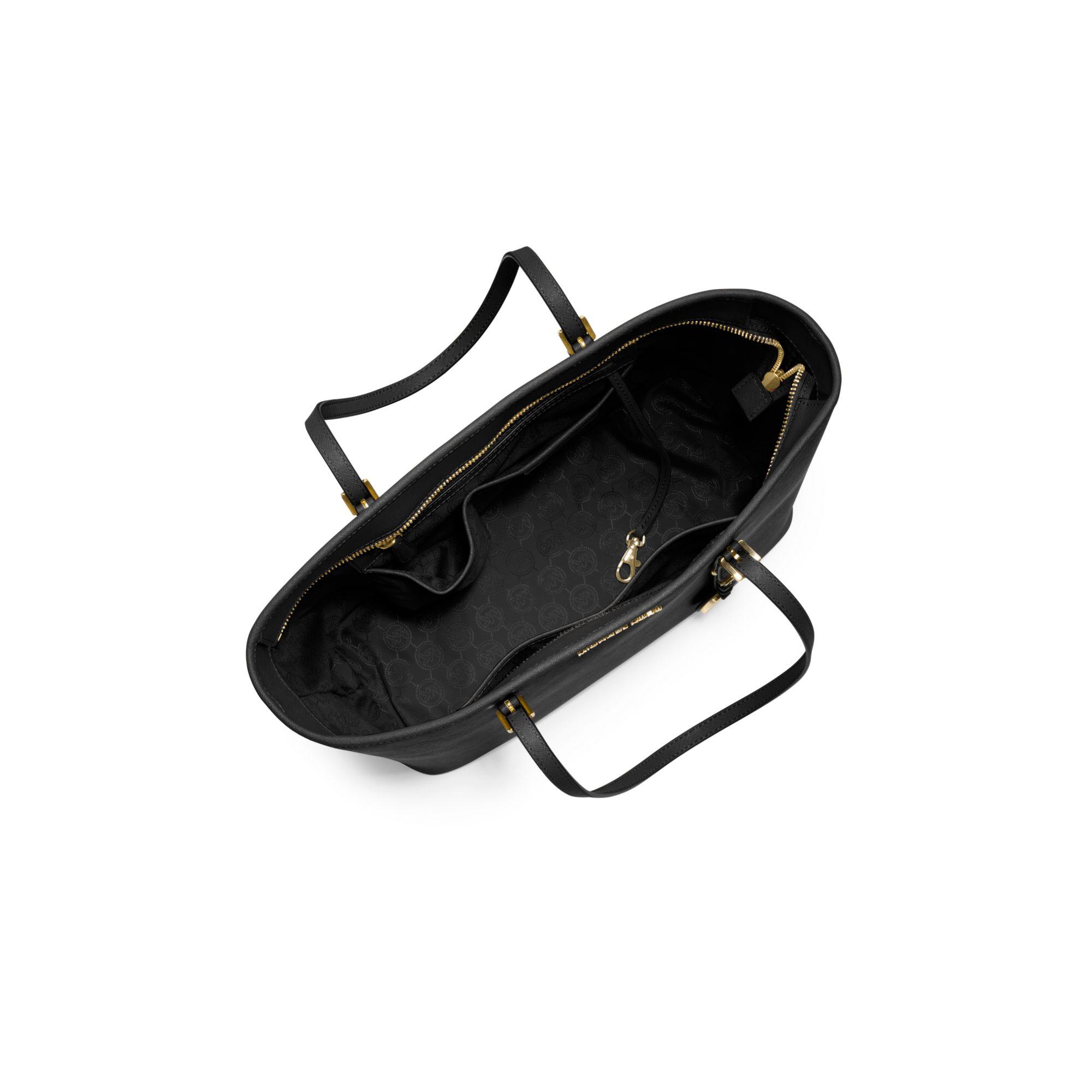 Lyst Michael Kors Jet Set Travel Saffiano Leather Top