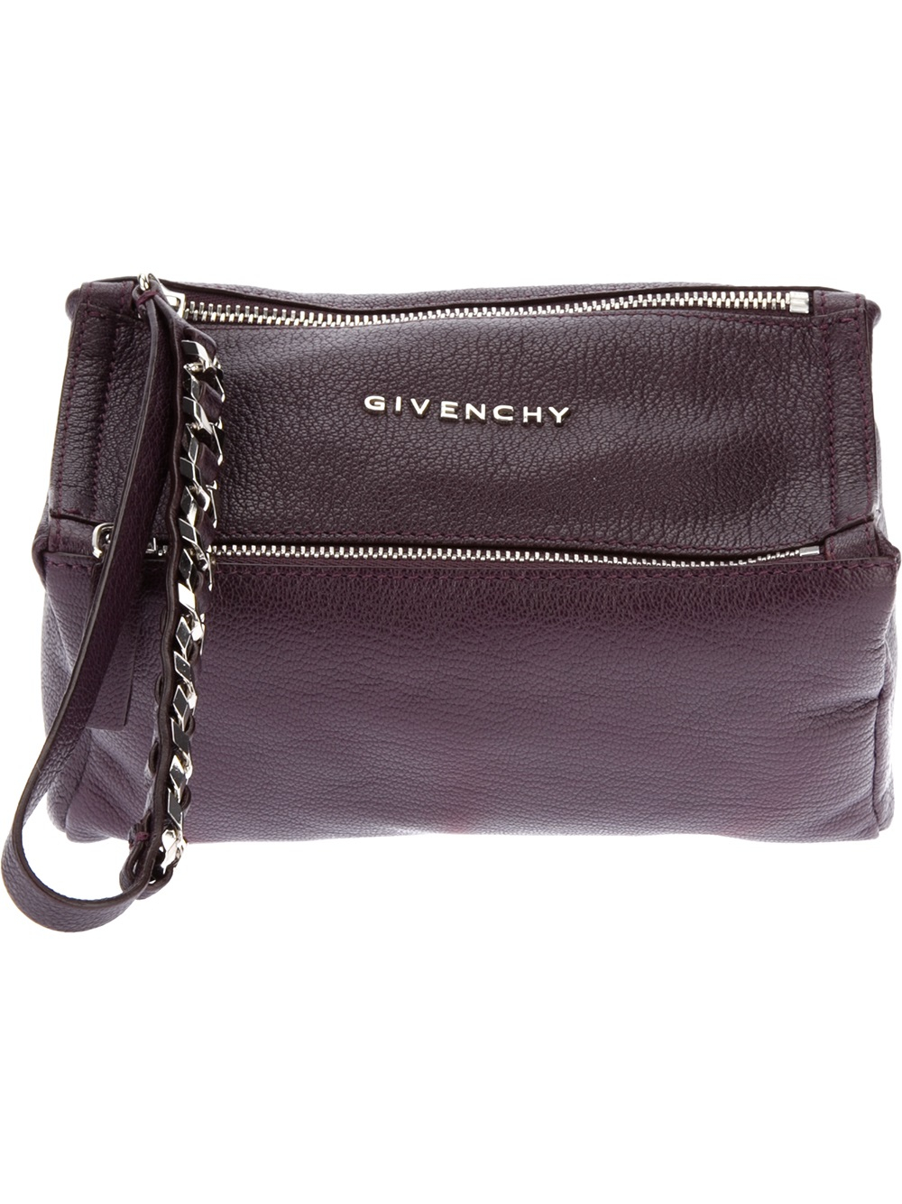 Givenchy Pandora Clutch In Purple