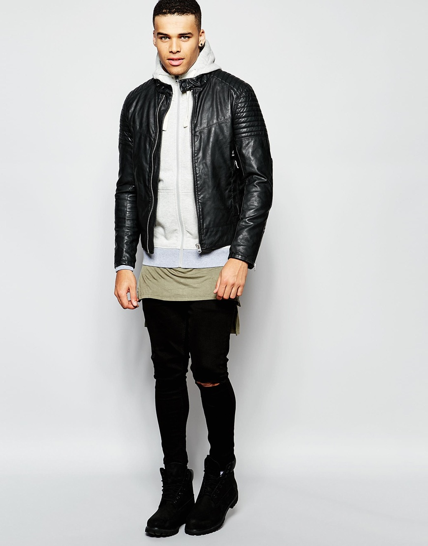 star raw zipthru hoodie kendo in vintage heather in gray for men. Black Bedroom Furniture Sets. Home Design Ideas