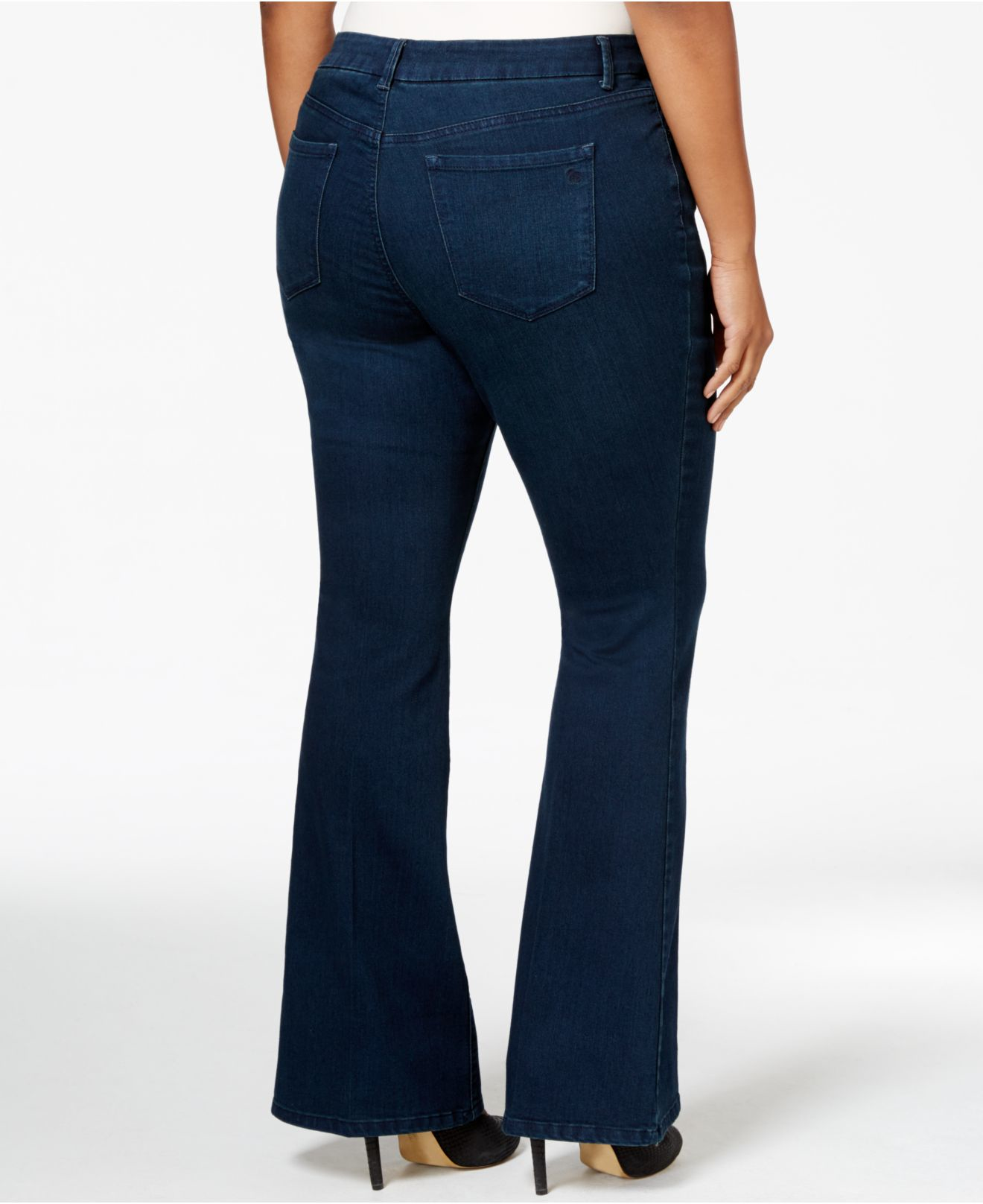 Jessica simpson Plus Size Flare-leg Freesia Wash Jeans in Blue | Lyst