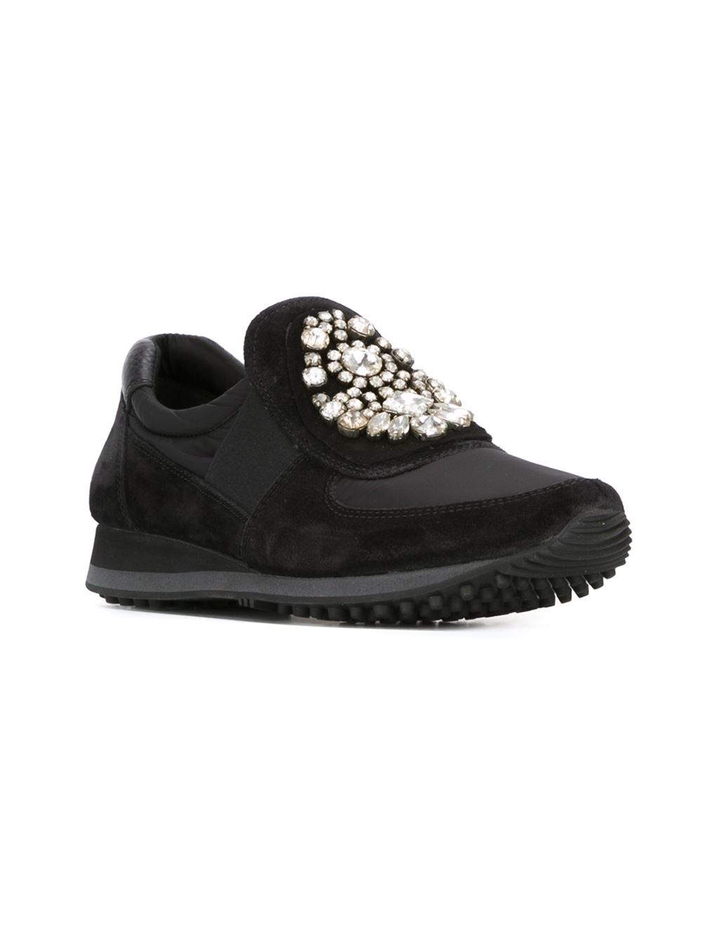Car Shoe Leather Embellished Sneakers