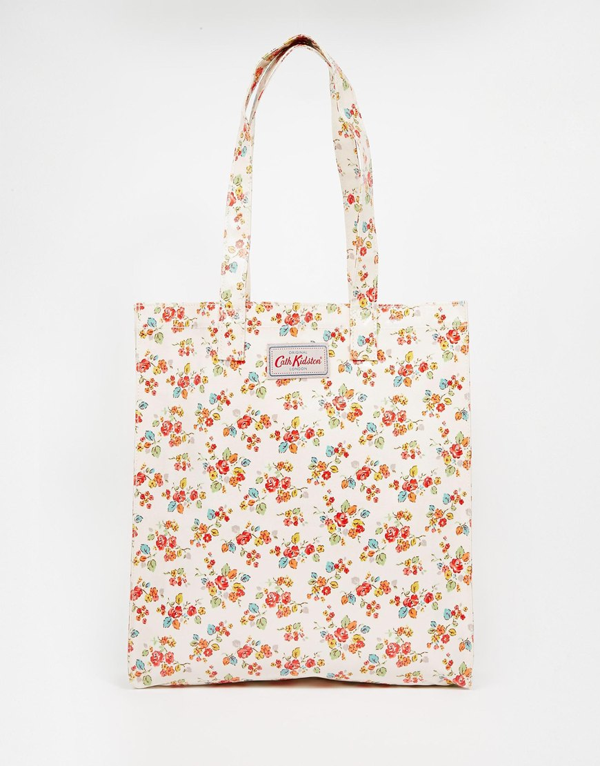 lyst cath kidston bookbag with gusset in pink. Black Bedroom Furniture Sets. Home Design Ideas