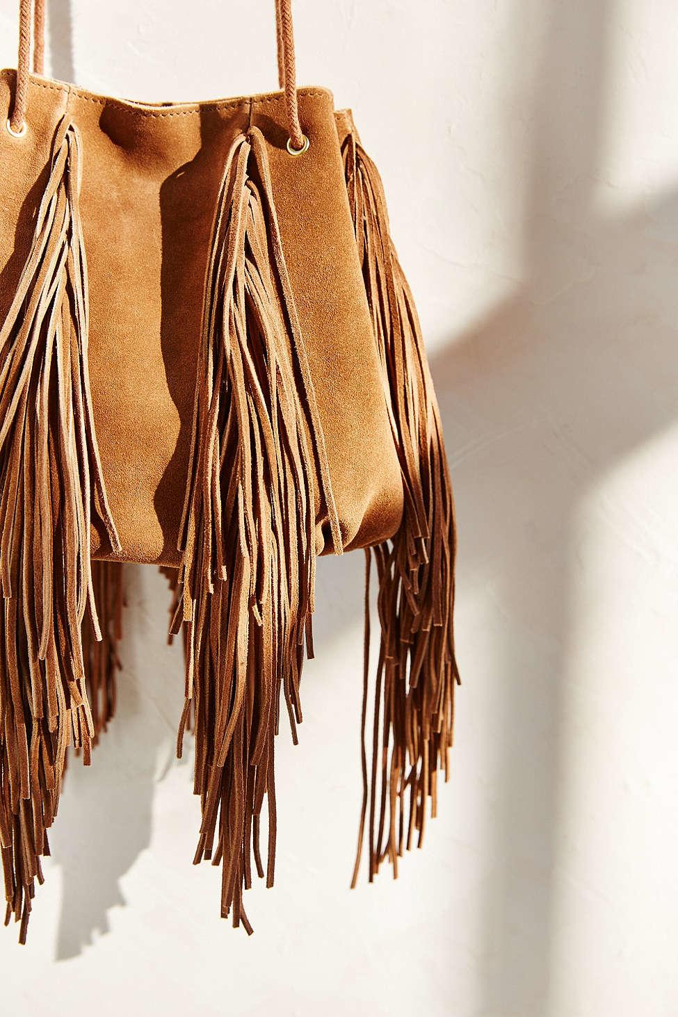 ecote fringe bag in brown lyst