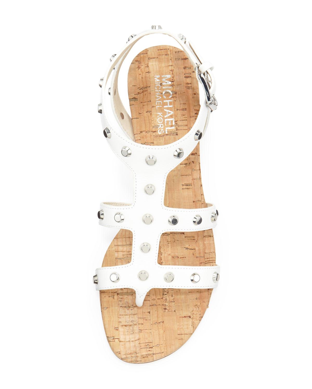 Lyst Michael Michael Kors Jolie Studded Wedge Sandal In