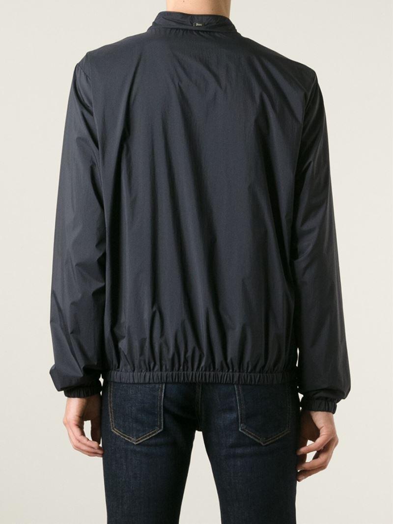 Herno Classic Windbreaker Jacket in Black for Men | Lyst