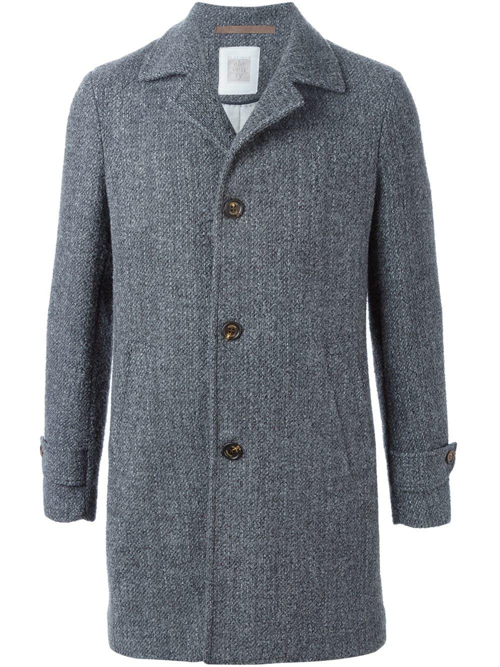 Gray overcoat