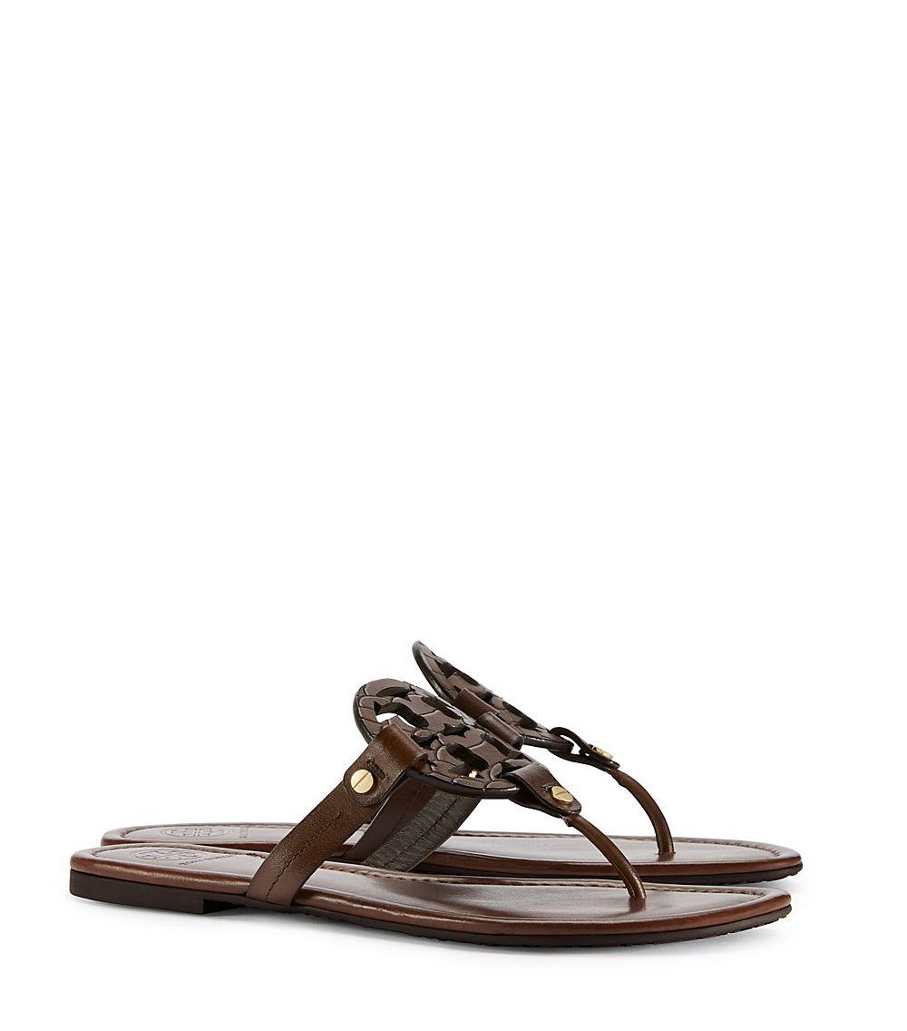 f1f3d479e90316 Lyst - Tory Burch Miller Sandal in Brown