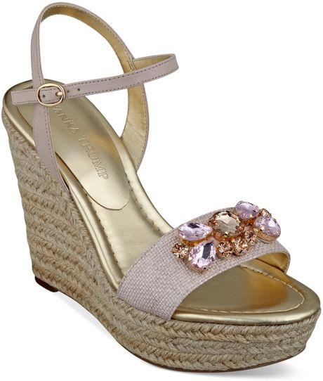 ivanka hasco platform wedge sandals in pink light