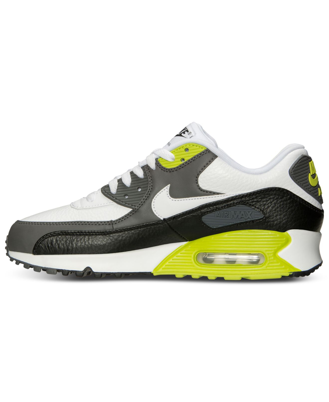 nike mens air max 90 leather running sneakers from finish. Black Bedroom Furniture Sets. Home Design Ideas