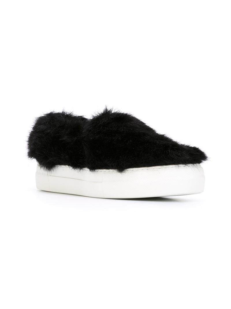 Joshua Sanders NY Appliqué Slip-On Sneakers in Black