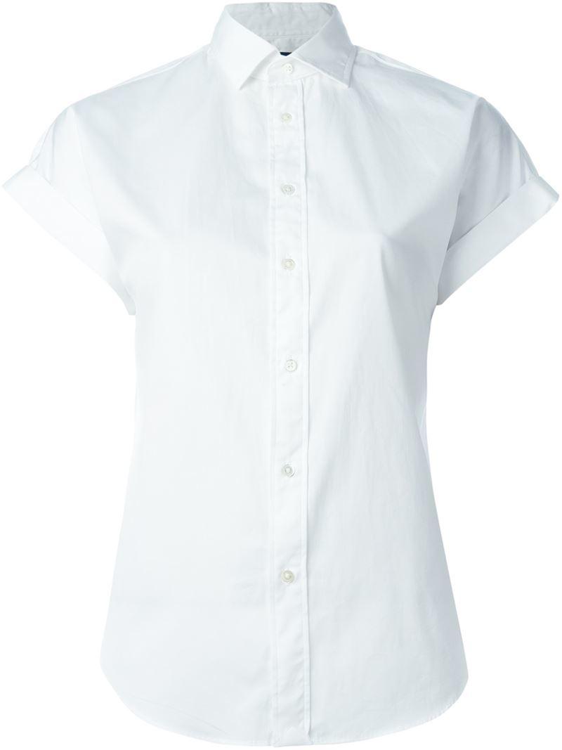Polo Ralph Lauren Short Sleeve Shirt In White Lyst