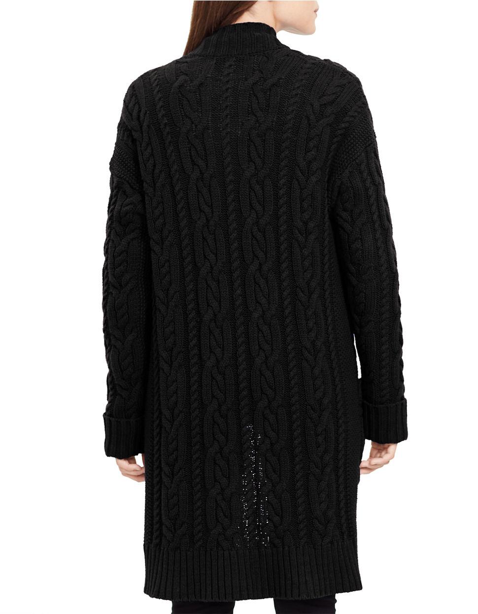 Lauren by ralph lauren Petite Cable-knit Open-front Cardigan in ...