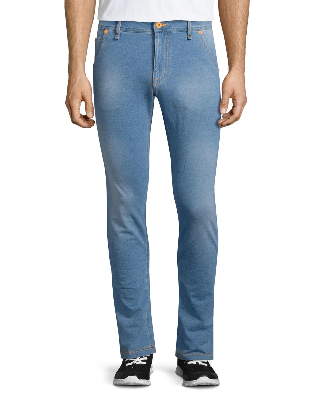 moschino five pocket slim fit jeans in blue for men lyst. Black Bedroom Furniture Sets. Home Design Ideas