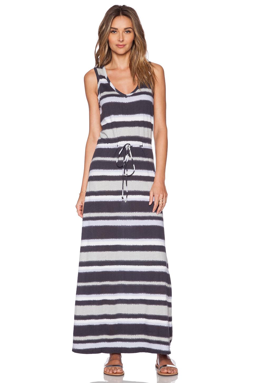 Lyst Bobi Boho Stripe Maxi Dress In Gray