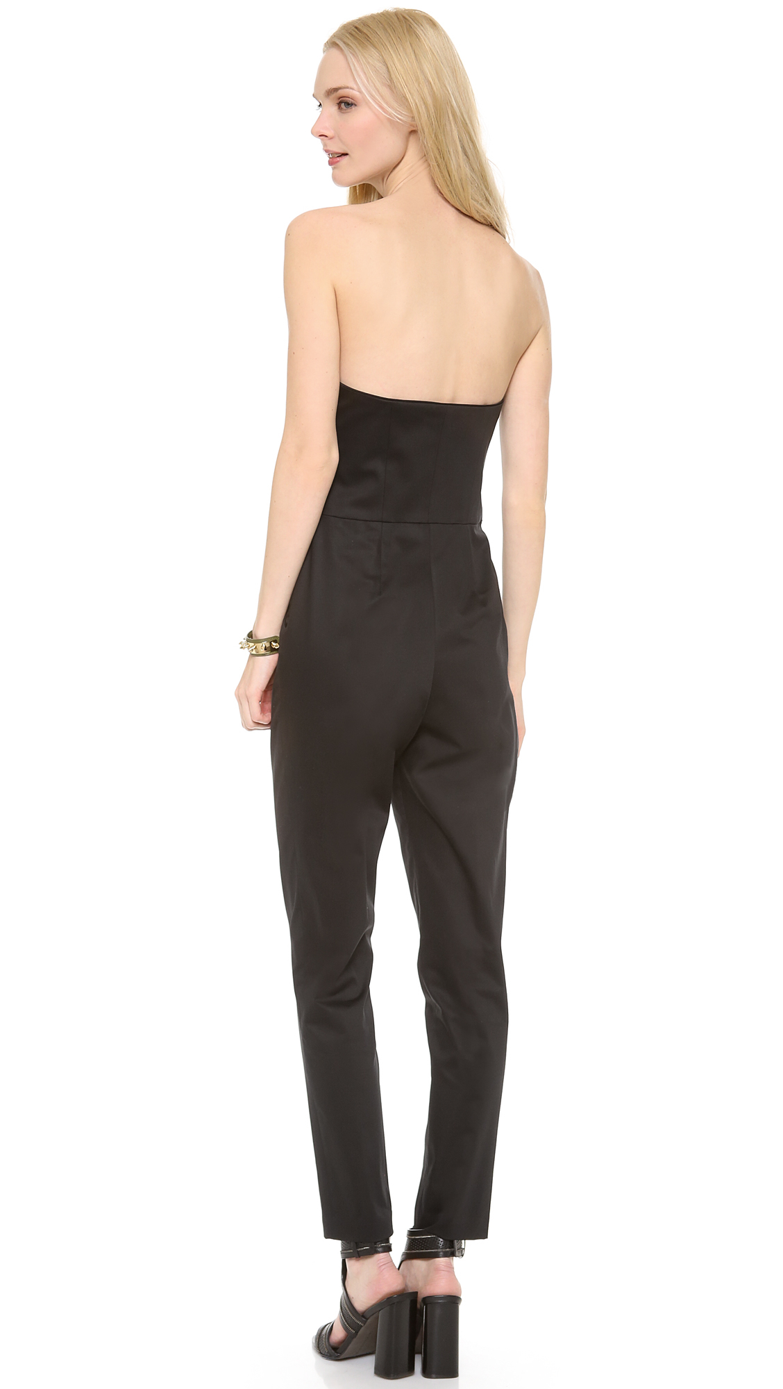 Lyst - Milly Strapless Jumpsuit in Black