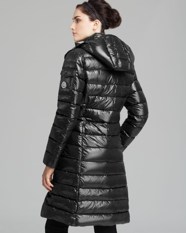 7c6bf2c37 Moncler Black Moka Mid Length Down Coat