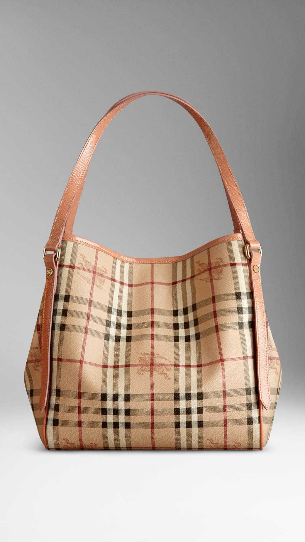 68606122cf15 Lyst - Burberry The Small Canter In Haymarket Check in Pink