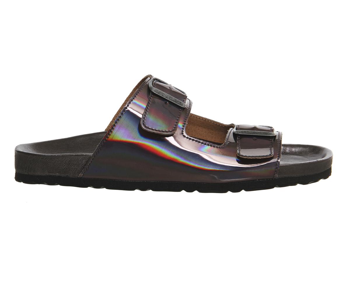 Lyst Office Marbella Buckle Sandals In Metallic For Men
