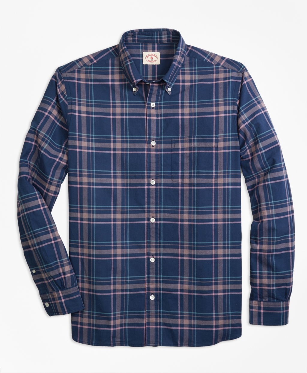 Brooks brothers madras sport shirt in blue for men lyst for Brooks brothers sports shirts