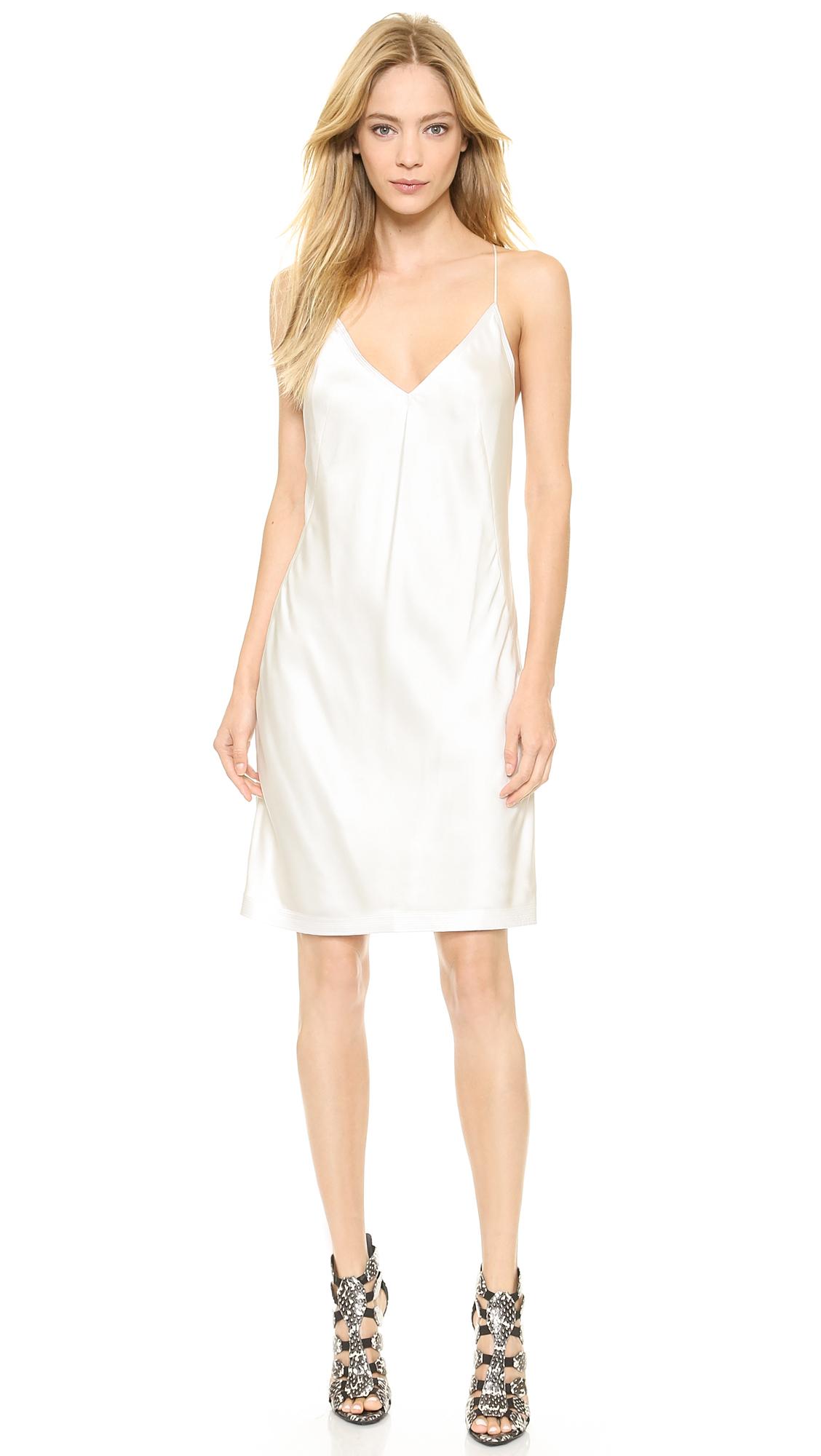 Ivory Silk Slip Dress Weddings Dresses